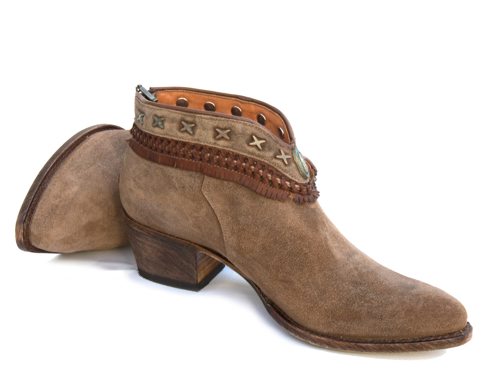 09a8d835709ed 622 Lini Tobacco Suede Ankle Boots - R Soles