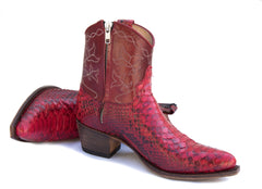 Red Python Short Boot