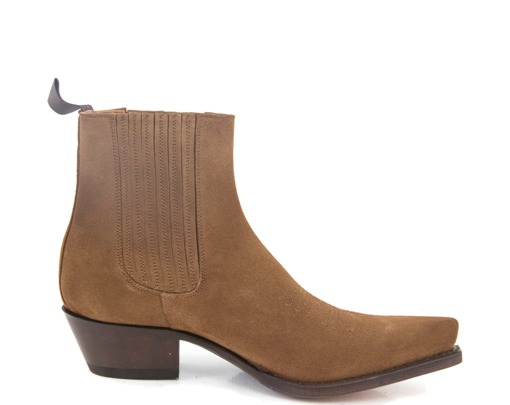 Tobacco Suede Ankle Boot