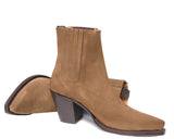 Virgi Tobacco Suede Ankle Boot