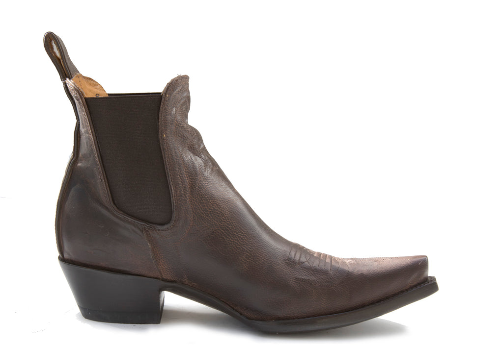 T4 Brown ankle low heel