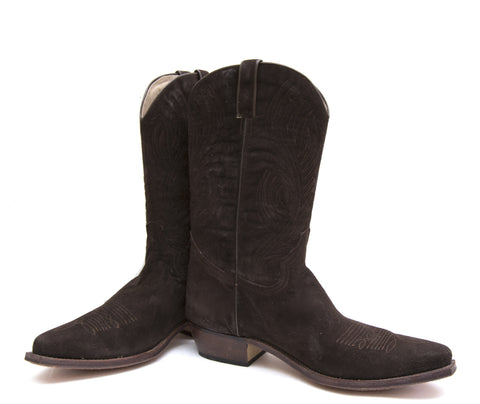 Chocolate Suede cowboy boot