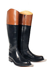 Black and Tan Riding Boot