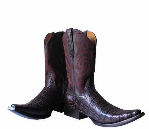 Brown Caiman boots