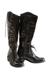 Black Patent Leather riding boots