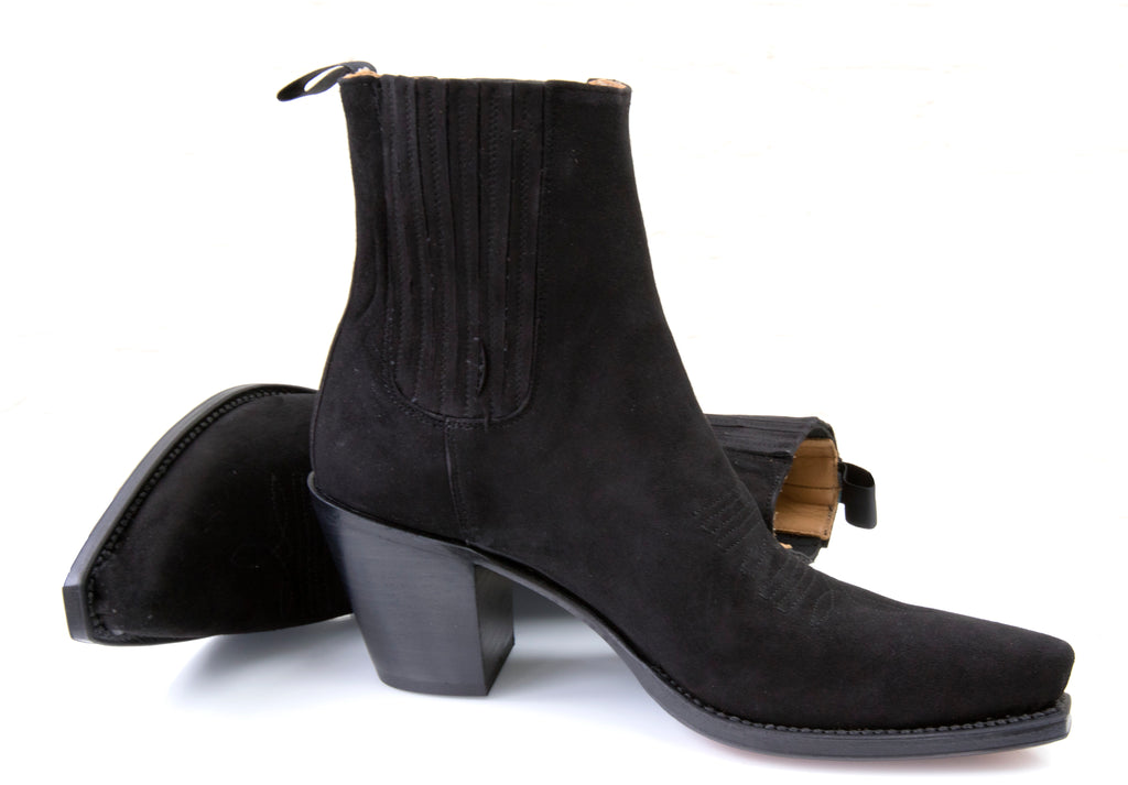 Virgi Black Suede Ankle Boot