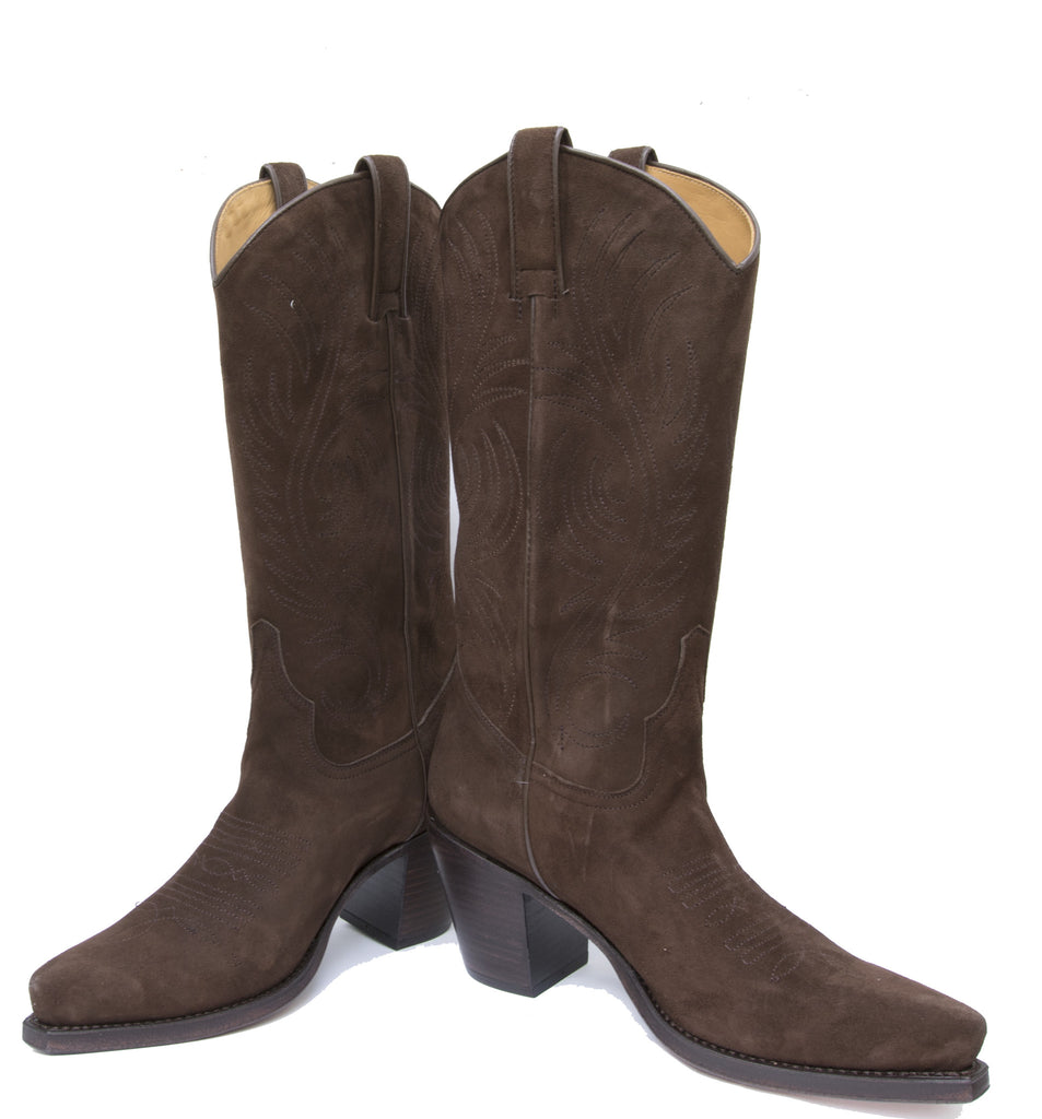 Virgi Chocolate Suede Womens Boot - R Soles