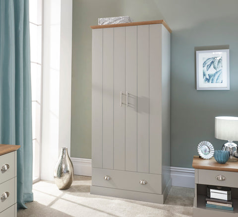 Kendal 2 Door & 1 Drawer Wardrobe