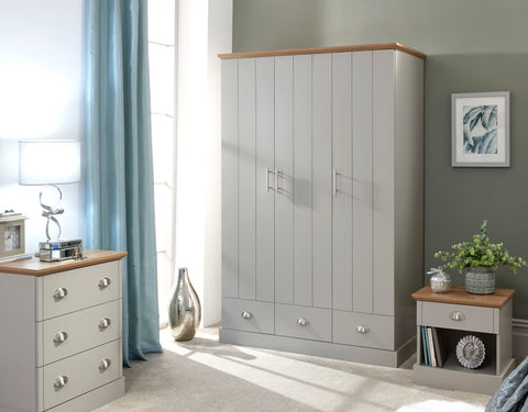 Kendal 3 Door & 3 Drawer Wardrobe