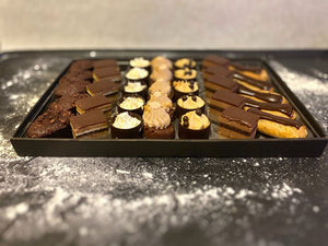 Mini pâtisseries Chocolate tray