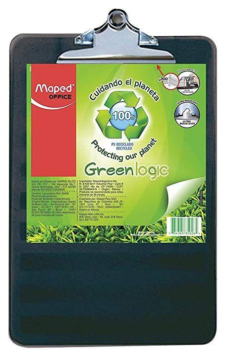 "Sujeta papeles Greenlogic (Clipboard), 9"" x 12"", Maped"