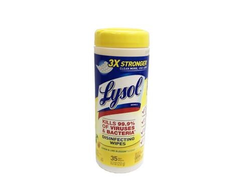Wipes desinfectante Lysol, 35 Wipes