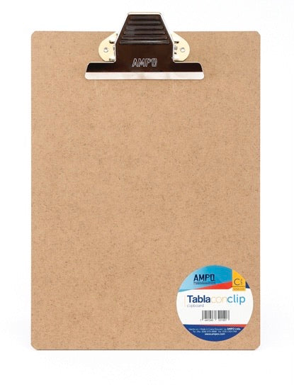 "Tabla Archivadora (Clipboard), 9"" x 12.5"", Ampo"