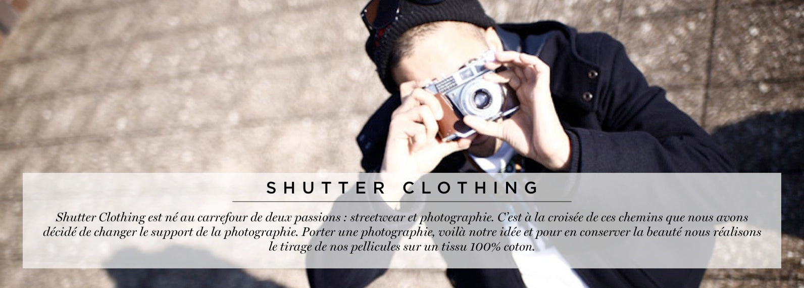 collection shutter clothing t shirt