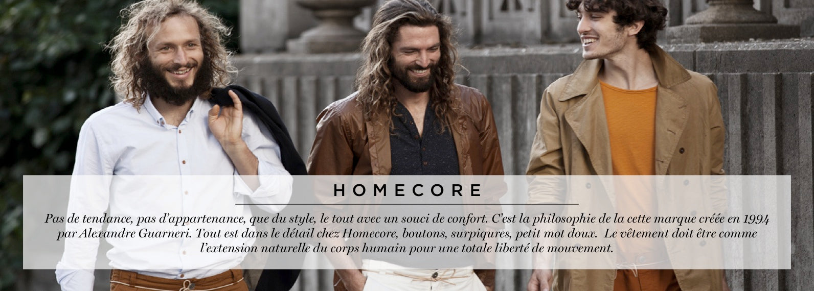 collection homecore homme chemise chino vestes versailles