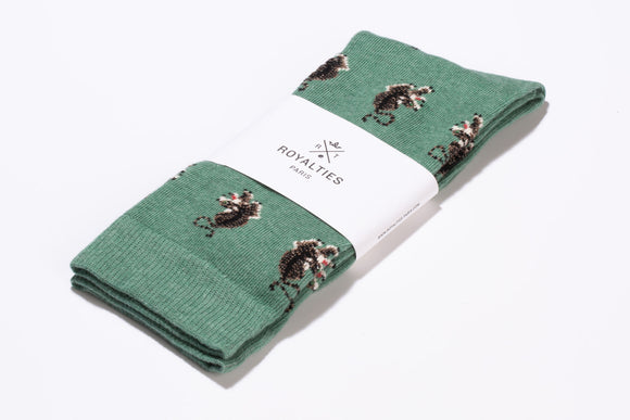 CHAUSSETTES ROYALTIES PARIS JUNGLE MENTHE