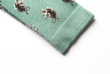 CHAUSSETTES TIGRE VERT JUNGLE ROYALTIES PARIS