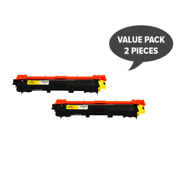 TN-255 Yellow Premium Generic Toner (Set of 2)