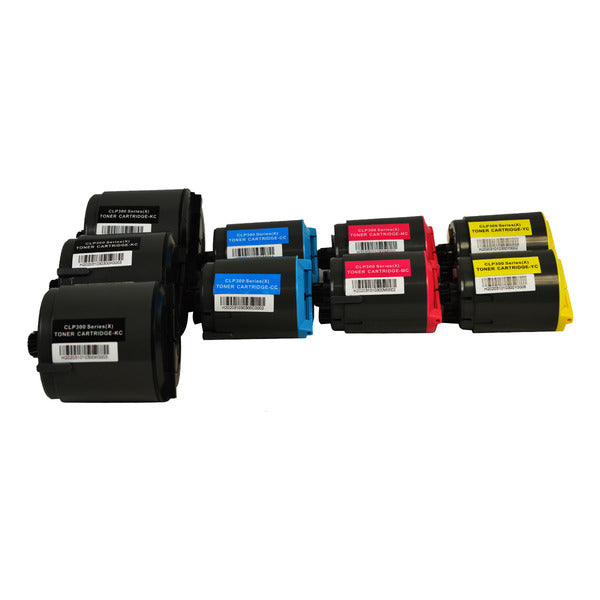 CLP-C300 Series Generic Toner Set x 2 Sets + Extra Black (9 Cartridges)