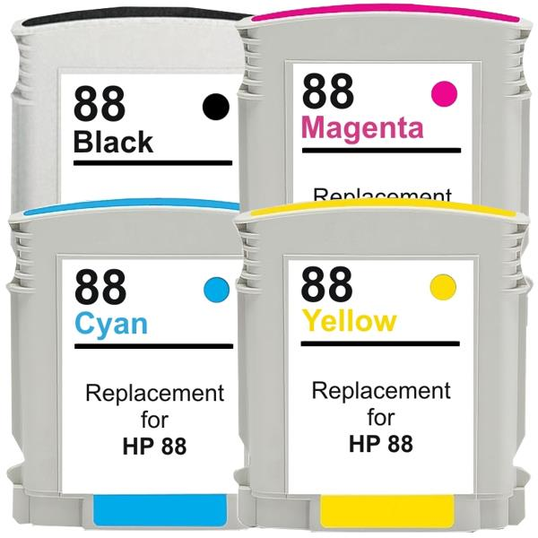 88XL Remanufactured Inkjet Cartridge Set  4 Cartridges