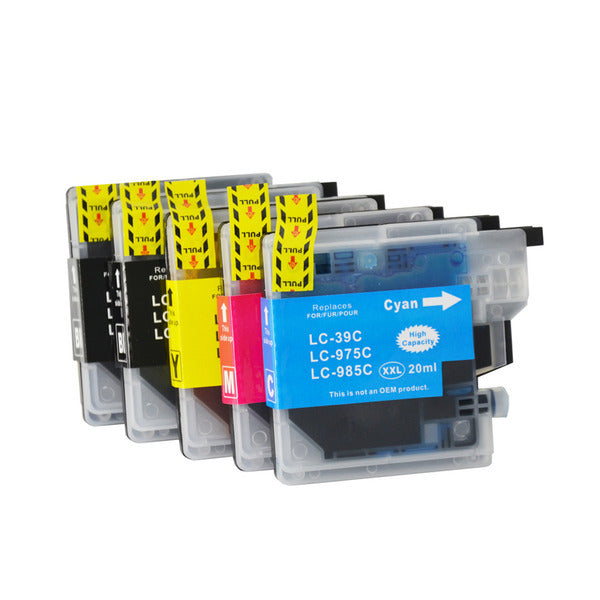 LC39 Compatible Inkjet Cartridge Set  5 Ink  Cartridges [Boxed Set]