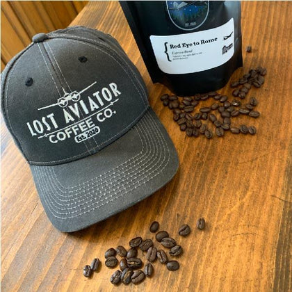 lost aviator coffee vintage hat