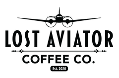lost aviator coffee logo