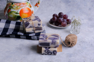 100% Vegetarian Handmade Black Grape Soap