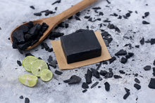 Load image into Gallery viewer, 100% Vegetarian Handmade Charcoal Lemon Soap