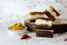Load image into Gallery viewer, 100% Vegetarian Handmade Sandalwood, Turmeric  Saffron Soap
