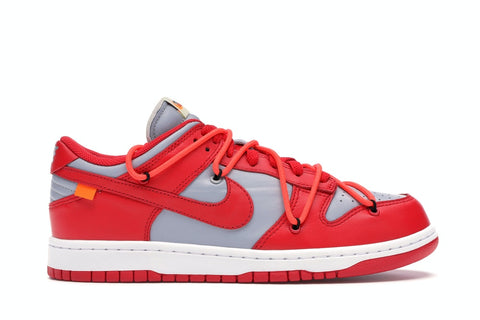 Nike Dunk Low Off-White University Red - SSNEAKS🐍 - YOU GOT THE HEAT