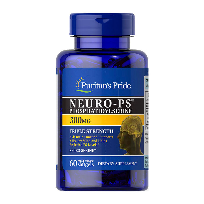 Neuro-ps Fosfatidilserina Puritan's Pride 300mg 60 Softgels