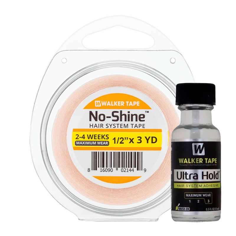 Fita Capilar No Shine 3m x1,3cm e Cola 15ml WalkerTape