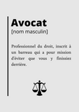 poster definition avocat