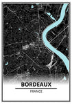 affiche carte bordeaux