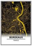 poster carte bordeaux