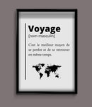 Poster définition voyage