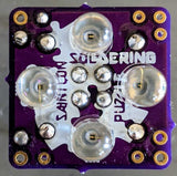 2020 SAINTCON Soldering Puzzle (Cordwood) mini badge (Ships around Oct. 20th)