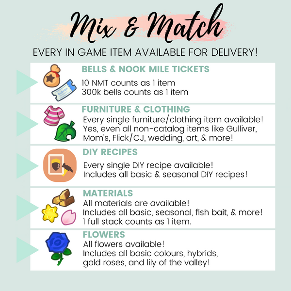 Custom Order: Mix & Match