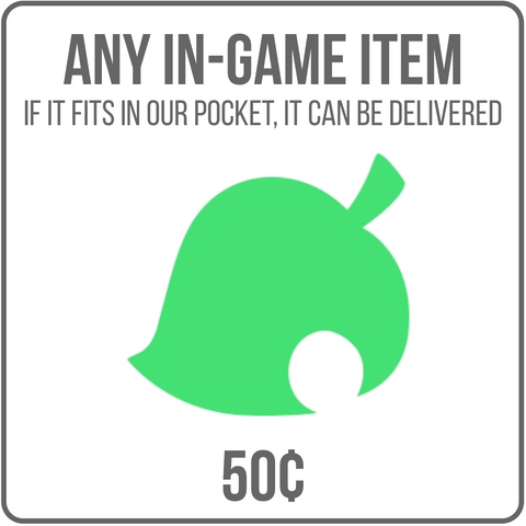 50¢ for Any In-Game Item