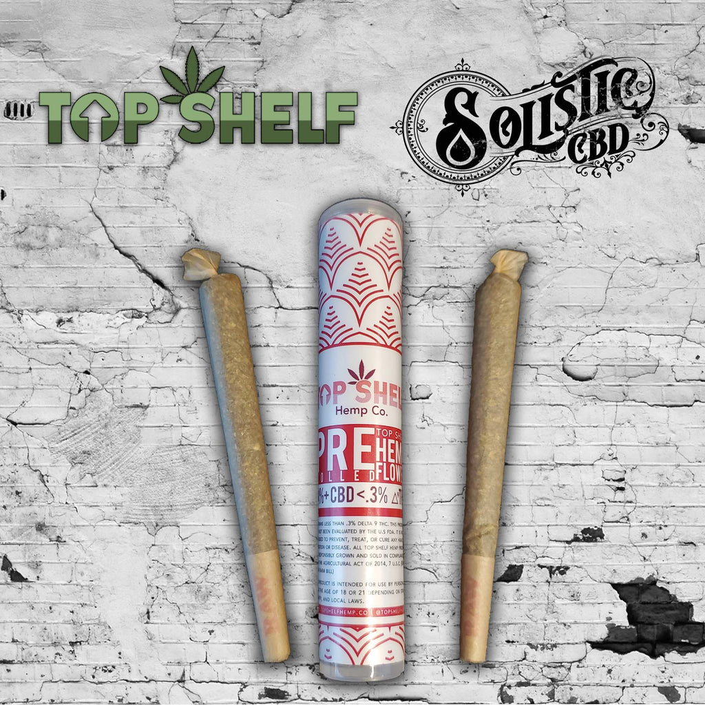 Top Shelf Hemp cbd Pre roll Solistic