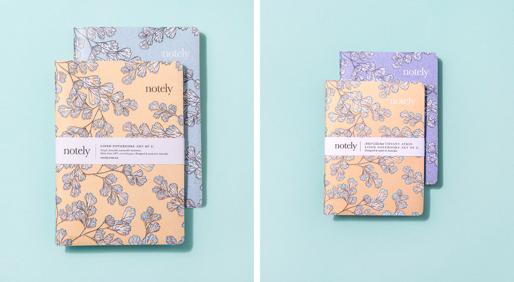 Fern Fancy Notebook set by Tiffany Atkin for Notely