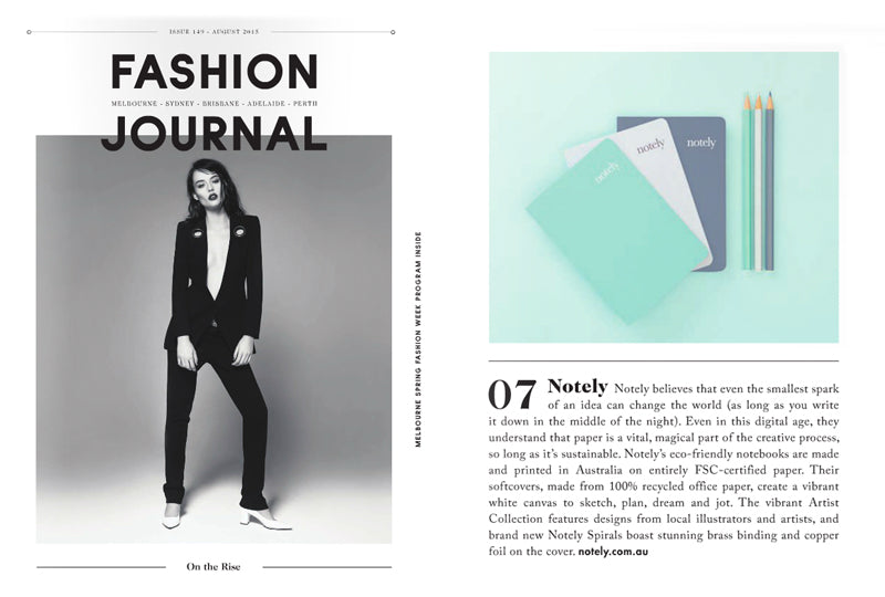 Notely feature in Fashion Journal Magazine