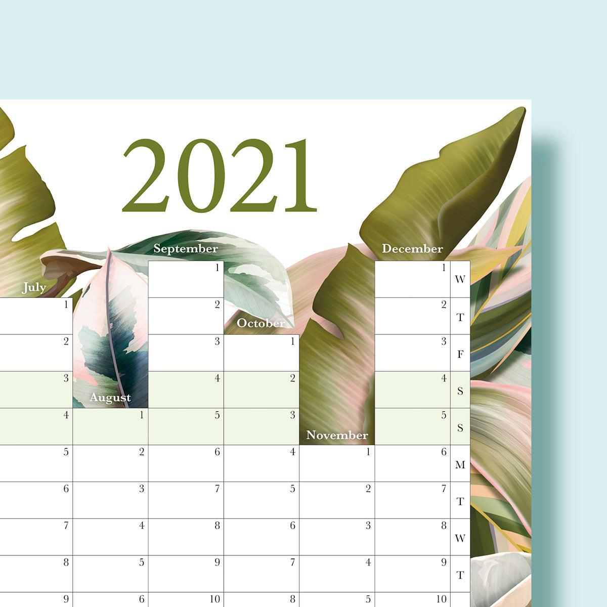 2021 A2 Wall Planner