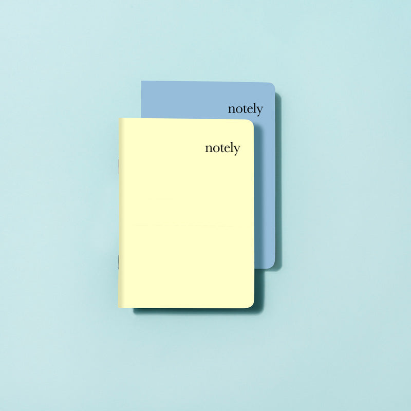 Lemon & Byron Blue - A6 Pocket Notebook (Set of 2)
