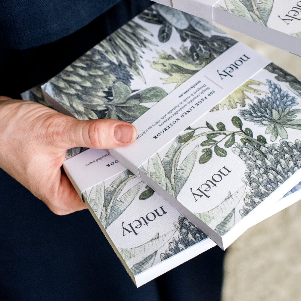 Notely Botanical Journals in hand