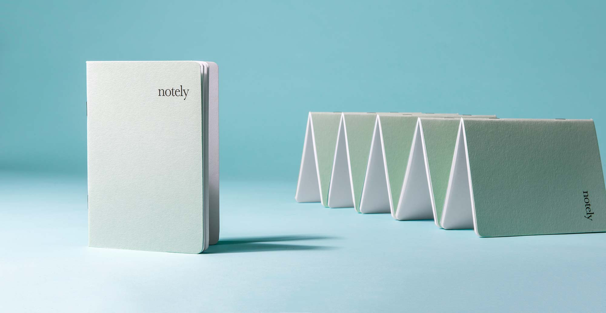 Notely Essentials Spearmint Pocket Notebook Collection