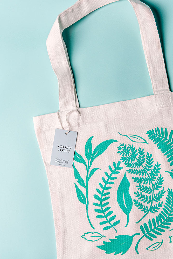 Notely Leafy Canvas Tote