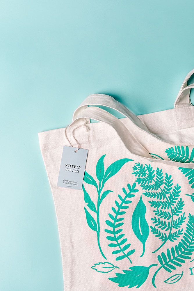 Notely Leafy Tote Shopping Bag