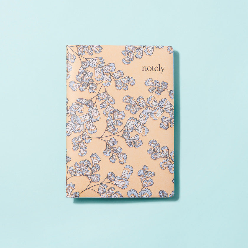 Fern Fancy – Lemon & Turquoise – A5 Notebook (Set of 2)